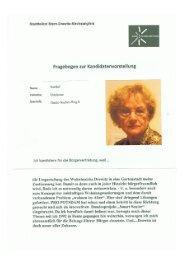 Kandidaten: Bewohner des Stadtteils - Gartenstadt Drewitz