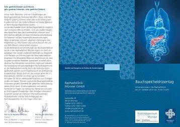 Bauchspeicheldrüsentag - Arbeitskreis der Pankreatektomierten e.V.