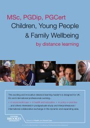 Children, Young People & Family Wellbeing - Faculty of Health and ...