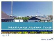 Inspiration fra Haldor Topsøe - Industriens Uddannelser