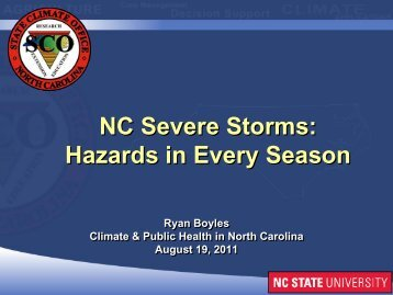 Ryan Boyles (State Climate Office, NC State University)