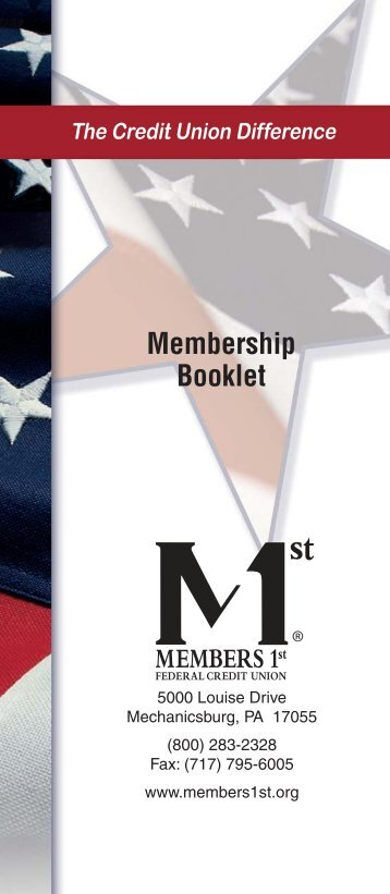 Membership Booklet - Members 1st Federal Credit Union