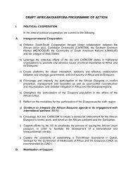 draft african diaspora programme of action - Department of ...