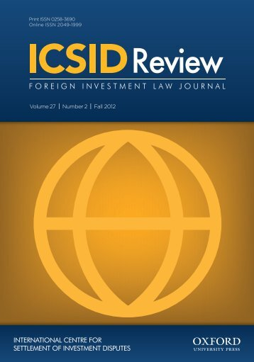 Front Matter (PDF) - ICSID Review