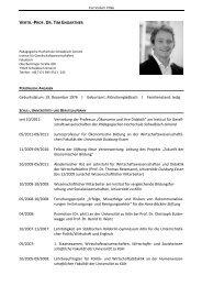 vertr.-prof. dr. tim engartner - Pädagogische Hochschule ...