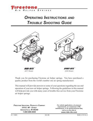 The Baby Owner S Manual Operating Instructions Trouble Shooting
