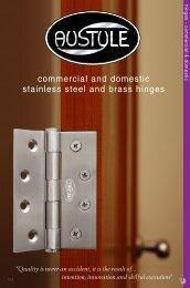 Hinge Catalogue from AusStyle - Door Hardware Sydney