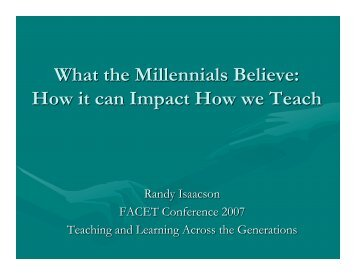 How It Can Impact How We Teach - Isaacson