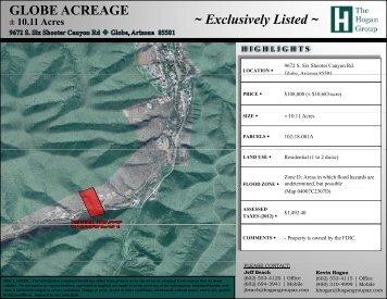 GLOBE ACREAGE - ± 10.11 Acres - The Hogan Group