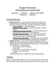 BGH Support Services (PDF) - Bethel University