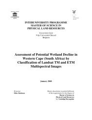 Assessment of Potential Wetland Decline in Western Cape (South ...