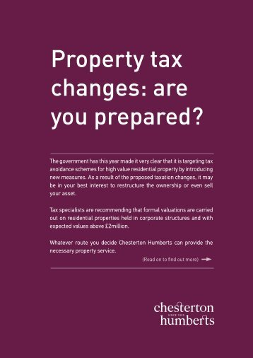 chesterton-humberts-tax-changes-2012