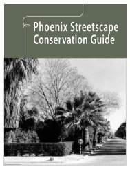 Phoenix Streetscape Conservation Guide - City of Phoenix