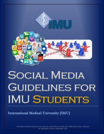 Social Media Guidelines - International Medical University(IMU)