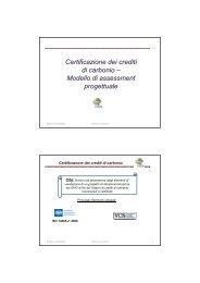 Modelli di certificazione dei crediti forestali - Centro CISA