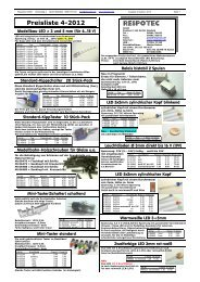 RESPOTEC Preisliste 4-2012