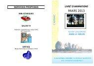 SEMAINE du 01 au 10 MARS 2013 - Carnac