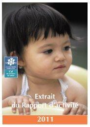 Extrait du Rapport d'activité - Caf.fr