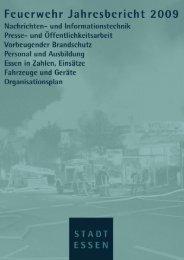 Jahresbericht 2009 - Berufsfeuerwehr Essen