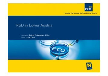 R&D in Lower Austria - QUONIA