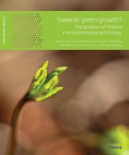 282/11 Towards green growth? – The position of Finland in ... - Tekes