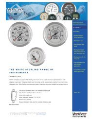 THE WHITE STERLING RANGE OF INSTRUMENTS - Veethree ...