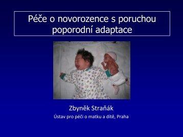 Péče o novorozence s poruchou poporodní adaptace