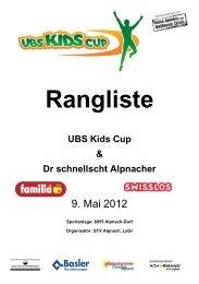 Rangliste 2012 - STV Alpnach
