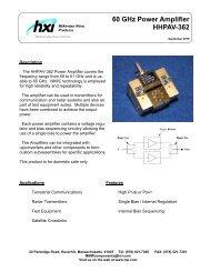 60 GHz Power Amplifier HHPAV-362