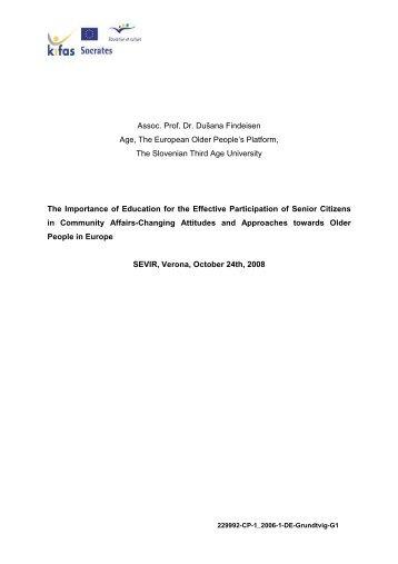 Assoc. Prof. Dr. Dušana Findeisen Age, The ... - login-edu.de