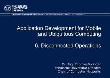 6. Disconnected Operations - Faculty of Computer Science ...