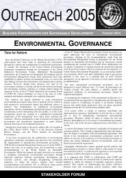 Issue II - Stakeholder Forum