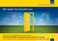 FUTURE-PACKAGING | Verpackungstechnologien  ... - ITG Salzburg
