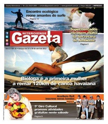 Ano 1 • Nº 35 • Semana de 14 a 20 de abril de 2012 - Gazeta ...