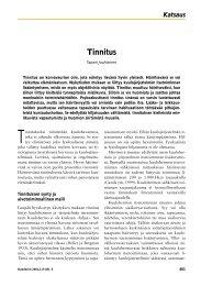 Tinnitus - Terveyskirjasto