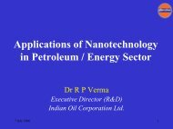 Applications of Nanotechnology in Petroleum / Energy Sector