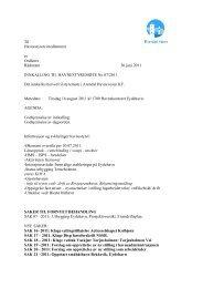 Innkalling & saksliste 16 aug 2011 - Arendal Havn