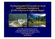 The Opportunities & Proposals for Small Hydropower ... - unido