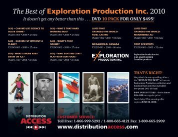Best of Exploration Productions - Distribution Access