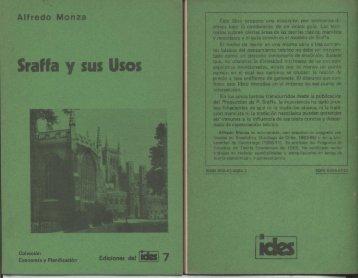 Ediciones del IDES Nº 7, Sraffa y sus usos.