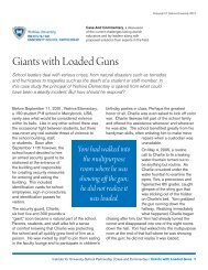Giants with Loaded Guns - Institute for University-School Partnership