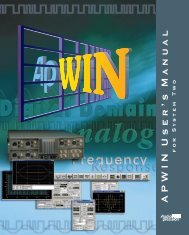 APWIN System 2 Users Manual