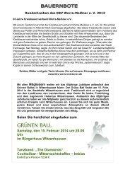 Rundschreiben KBV WM 2013 - Kreisbauernverband Werra-Meißner