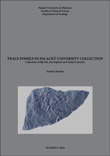 trace fossils in palacký university collection - Katedra geologie UP