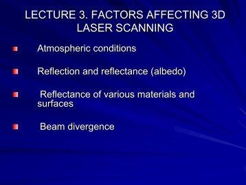 Factors Affecting 3D Laser Scanning Performance