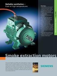Smoke extraction motors - Siemens