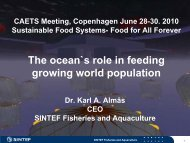 The ocean`s role in feeding growing world population