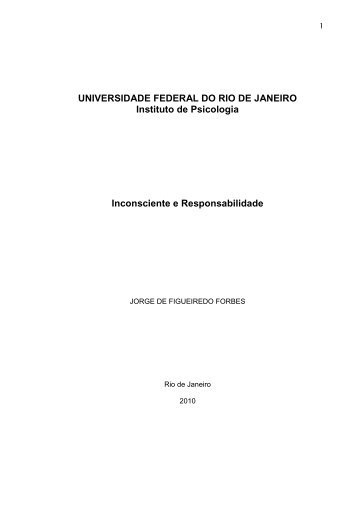UNIVERSIDADE FEDERAL DO RIO DE JANEIRO Instituto ... - UFRJ