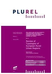 Review of Typologies of European Rural- Urban Regions - Plurel