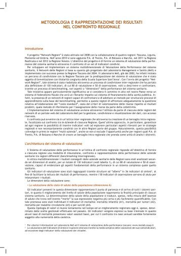 metodologia Valutazione Network Regioni - Sistema di valutazione ...